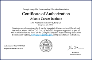 2021 Certificate of Authorization